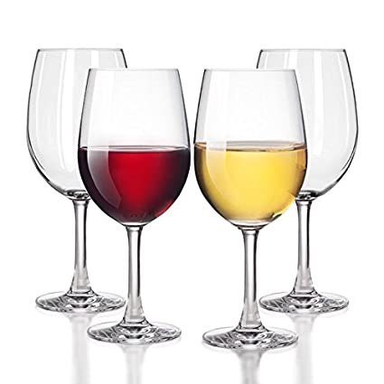 Unbreakable White/Red Wine Glasses Smooth Rim   100% Tritan Dishwasher Safe,