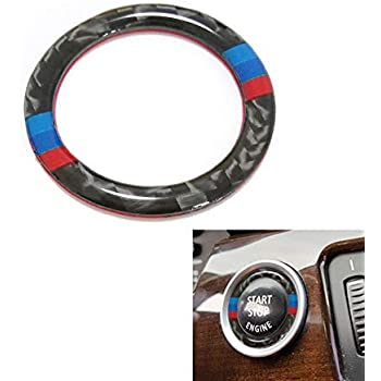 80bdba13cabe Thor-Ind Carbon Fiber Car Engine Start Stop Button Cover Trim Ring for BMW  Old