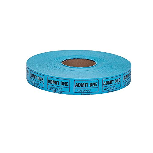 Office Depot Ticket Roll, Single Coupon, Assorted, Roll of 2,000, No Color Choice, 215000147 (Office Depot Tickets)
