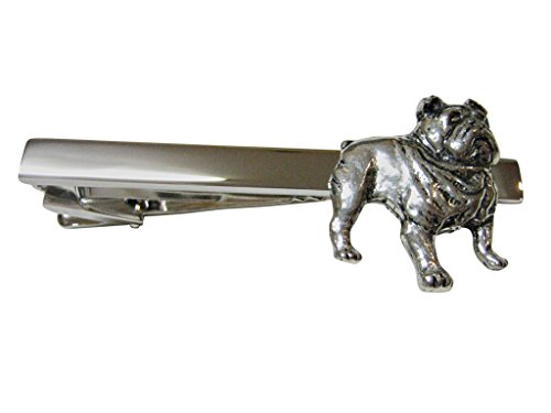 British Bulldog Square Tie Clips by Kiola Designs