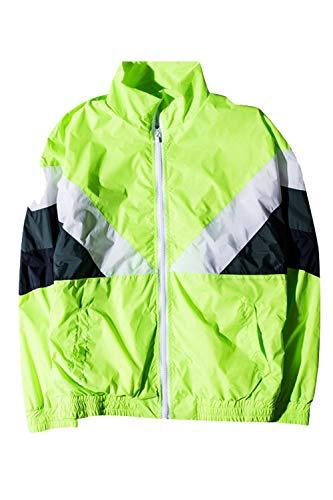 Parejas Chaquetas Hombres Uniformes Desgarrado Deporte Outerwear Zilcremo Lightgreen Retro w4q1wz