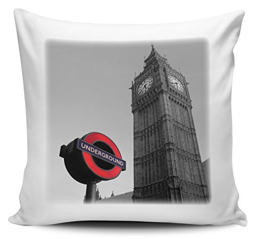 Arthuryerkes London Underground with Big Ben Throw Pillowcase Cushion Cover -