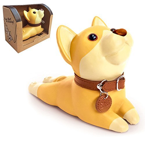 HansGo Cute Dog Doorstop, Shiba Inu Door Stopper Door Wedge Cartoon Puppy Door Stop Decorative Doorstop for Girls Boys Kids Home Office Decoration