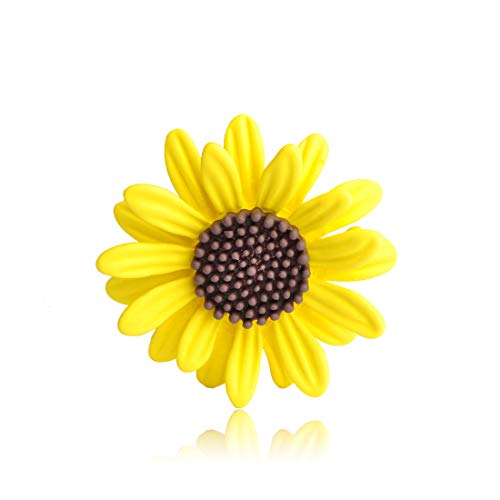 (MECHOSEN Yellow Sunflower Warm Icon Brooches Pin for Women Cute Enamel Jewelry Broche Kids Lovely Backpack Pendant Cardigan Clips)