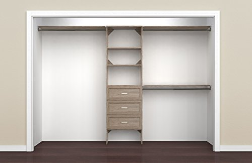 ClosetMaid 1932140 SuiteSymphony 25-Inch Closet Organizer with Shelves and 3-Drawers, Natural Gray