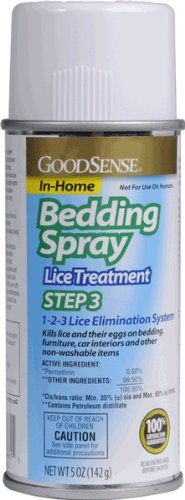 GoodSense Lice Bed Spray Liquid, 5 ounce (Pack of 12) from Good Sense