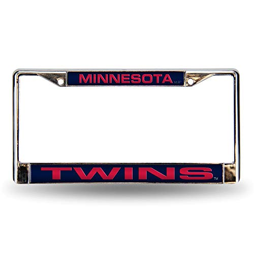 Rico Minnesota Twins MLB Chrome Metal Laser Cut License Plate Frame
