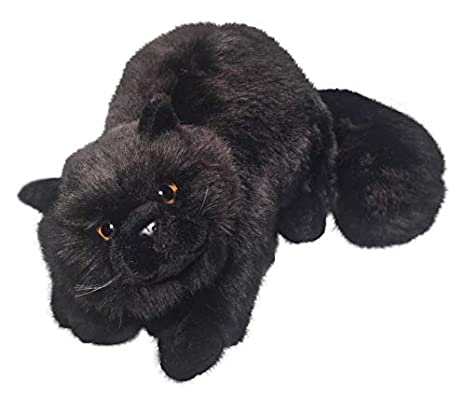 Cat Black 12 inches, 30cm, Plush Toy, Soft Toy, Stuffed Animal 1654003