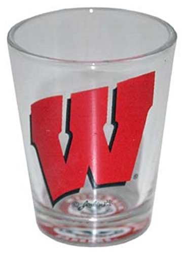 Jenkins Enterprises Wisconsin Badgers Shot Glass with Team Logo at the - Shot Logo Glass Team