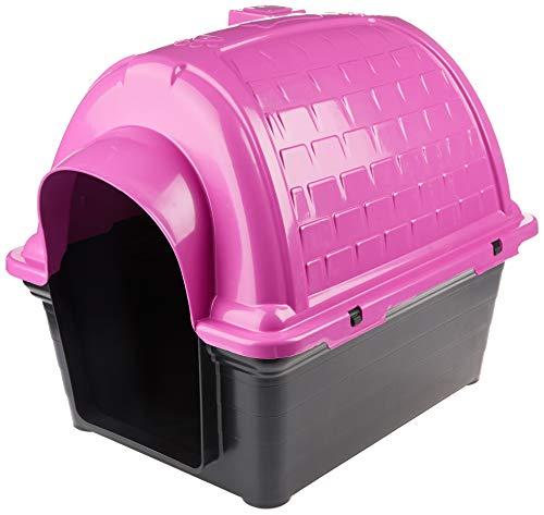 Casinha Plástica Furacão Pet Iglu N.3.0, Rosa Furacão Pet para Cães