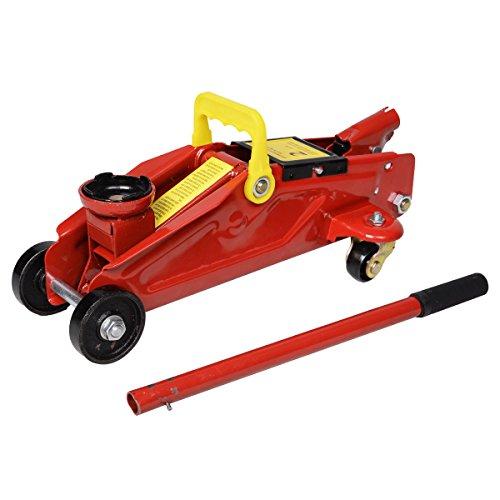 Red 2 Ton 4000 Lbs Hydraulic Floor Jack Lift Tool Wheels Mini New Rolling Swivel