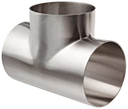Dixon B7WWW-G400P Stainless Steel 304 Polished Fitting, Weld Short Tee, 4\