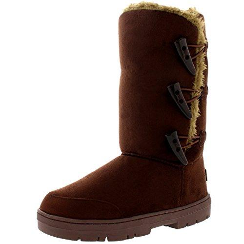 Invierno Impermeable Toggle Rain Fur Triplet Classic Tall Nieve Marrón Botas Mujer qA4xT6aw