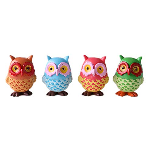 MonLiya 4PACK Refrigerator Magnets Owl Fridge Magnets Cartoon Cute Animal Fridge Magnets Suitable For Kitchen,Kids Toys Whiteboard,Funny Office Home Decorations Gift Creative Small Size