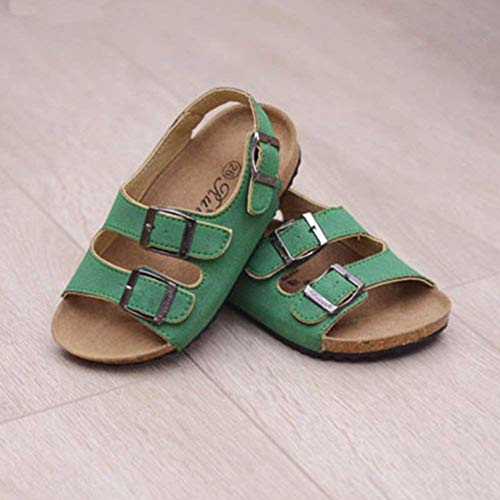 Taille Enfants bride à avec Unisexe enfants cheville 10 Sandales la Ouvert pour 27 étiquette Vert Oudan couleur Uw7BgWq6F