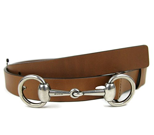 Gucci Men's Leather Horsebit Buckle Belt 281794 (105 / 42, Brown) (Horsebit Buckle Belt)