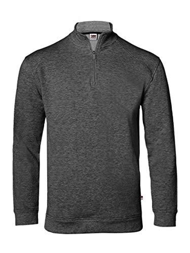 - Badger - FitFlex French Terry Quarter-Zip Sweatshirt - 1060 - L - Charcoal