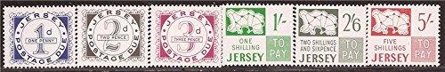Jersey - 1969 Postage Dues - 6 Stamp Set - - Scott #J1-6
