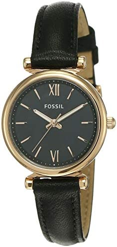 Fossil Women's Carlie Mini Stainless Steel and Leather Quartz Watch WeeklyReviewer