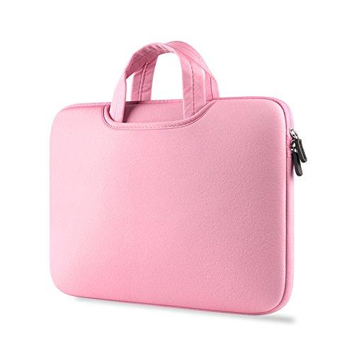 Protectora Del Bolso De Netbook Maletin De Ordenador Portatil Funda Portatil De Transporte Para Laptop Pink