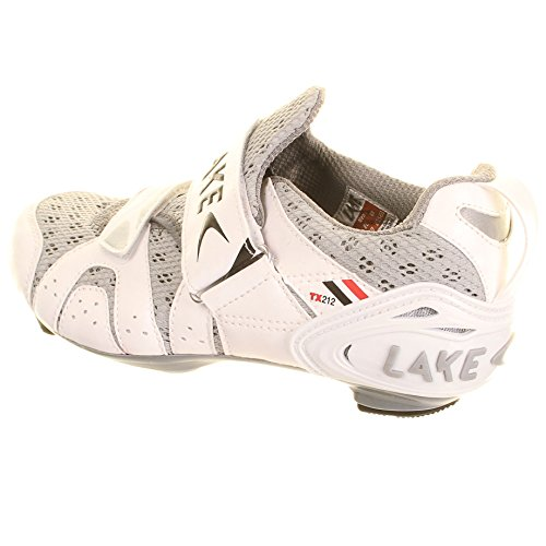 Lake Zapatillas para bicicleta de carretera Zapatillas de triatlón TX212 blanco/negro para hombre