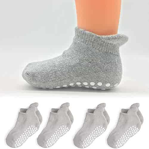 27f6112e4e826 Baby Griping Ankle Socks - 8 Pairs - Toddler Kids Boys Cotton Socks Girls  Non Slip