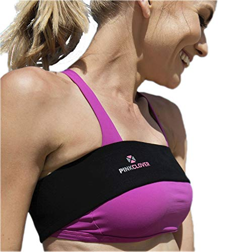 PINKCLOVER ACTIVEWEAR Breast Support Band, No-Bounce, Adjustable Extra Sports Bra Strap, Stabilizer Band (Best Bras For Breast Implants)