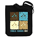 Teeburon Table Tennis Art Canvas Tote Bag