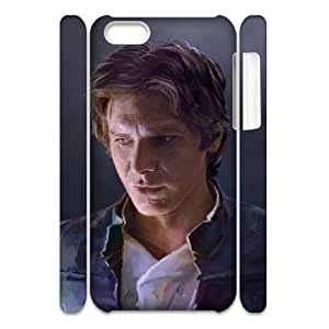 3D iPhone 5C Cases, Fashionable Han Solo Star Wars Drawing Cases For iPhone 5C {White}
