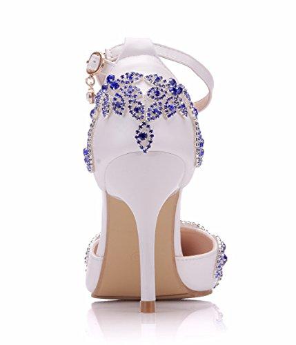 boda Zapatos encaje perforación Wedding SL de la boda Zapatos de bodaFina agua mujer Boda de de Heel Novia de con Zapatos de white Zapatos alta Shoes Apliques de xq8cAcwfSW