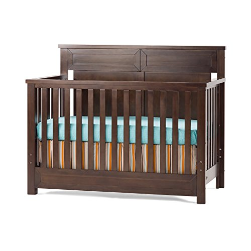 Child Craft Abbott 4-in-1 Convertible Crib, Rich Walnut For Sale