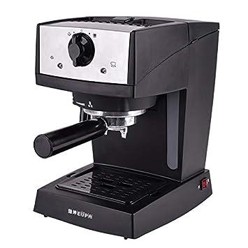 YLLKFJ Cafetera automática máquina de café Inteligente Retro casa Comercial pequeño Negro con medidor de Temperatura 1.2 L 850W operación de la Perilla ...