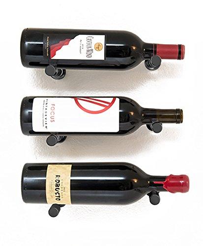 - 3 Bottle Vino Pin Designer Kit with Collars in Satin Black