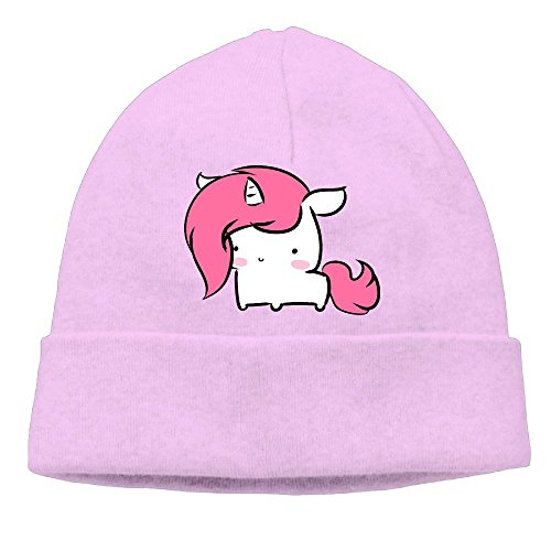 Uchengqumi Men/Women Cute Baby Unicorn Unisex Cool Fashion Hedging Hat Wool Beanie Skull Cap Headwear Pink ()