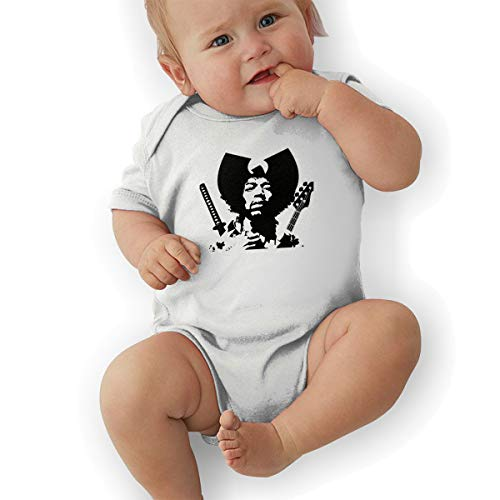 LuckyTagy Jimi Hendrix Unisex Classic Boys & Girls Romper Baby GirlJumpsuit 43 White