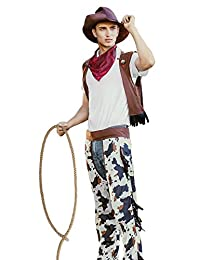 Men's Wild West Rodeo Cowboy Western Macho Cowpoke Dress Up Halloween Costume