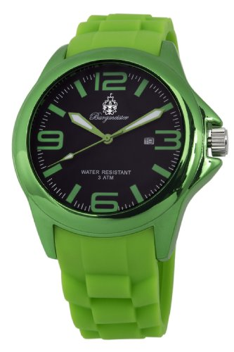 Burgmeister Women's BM166-090D Fun Time Green Watch with Silicone Strap