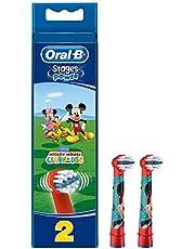 Oral-B Stages Çocuklar Için Diş Fırçası Yedek Başlığı, Mickey, 2 Adet