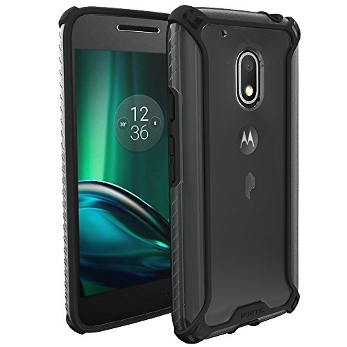 Moto G Play Case, Moto G4 Play Case, POETIC Affinity Series Premium Thin/No Bulk/Slim fit/Clear/Dual Material Protective Bumper Case for Motorola Moto G Play/Moto G4 Play Black/Clear