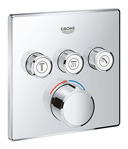 - GROHE 29149000 | SmartControl Concealed Mixer | Square | 3 Valves