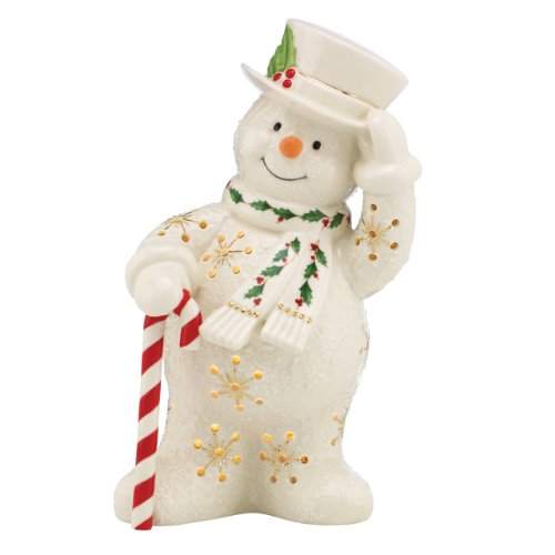 Lenox Happy Holly Days Snowman Lit Figurine - Ceramic Snowman