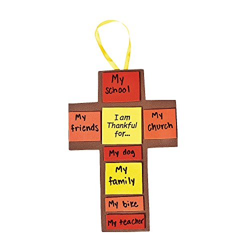 I Am Thankful For Fall Cross Craft Kit - Vacation Bible School & Crafts for Kids -