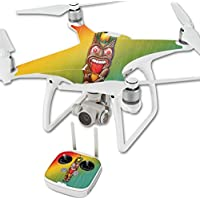 Skin For DJI Phantom 4 Quadcopter Drone – Tiki Man | MightySkins Protective, Durable, and Unique Vinyl Decal wrap cover | Easy To Apply, Remove, and Change Styles | Made in the USA