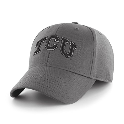 (NCAA Tcu Horned Frogs Comer OTS Center Stretch Fit Hat, Charcoal, Large/X-Large)