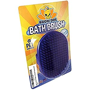 Bodhi Dog New Grooming Pet Shampoo Brush | Soothing Massage Rubber Bristles Curry Comb for Dogs & Cats Washing | Professional Quality 48