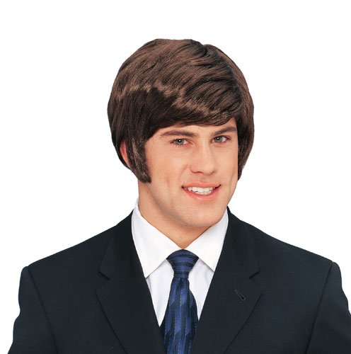 Costume Culture 70's Dude Wig Deluxe, Brown, One Size (70's Costume Wig)