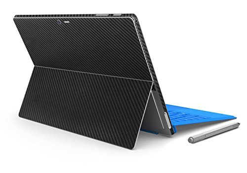 Herngee Surface Carbon Fiber Texture Protective Decal Skin Protector PVC Skin Stickers Cover Stickers Compatible with Surface Pro 3, Color Black
