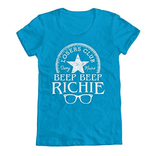 Club Ladies Tee (GEEK TEEZ Beep Beep Richie Losers Club Women's T-Shirt Turquoise Small)