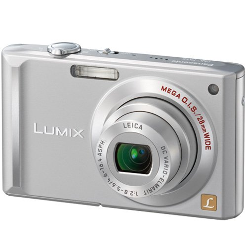 Panasonic Lumix DMC-FX55S 8.1MP Digital Camera with 3.6x Wide Angle MEGA Optical Image Stabilized Zoom (Silver)