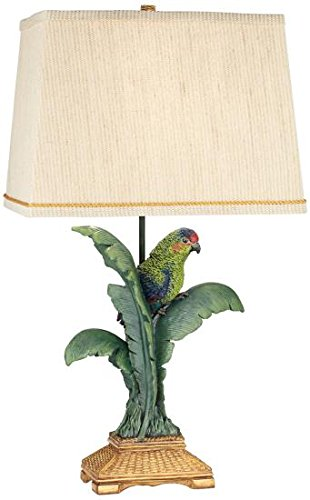 (Pacific Coast Lighting 87-7265-81 Tropical Parrot Multicolor 1-Light 150W Table Lamp)